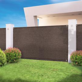 Brise vue haute densité taupe 1,5 x 10 M 300 gr/m² qualité pro