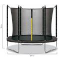 Trampoline pliable gris diamètre 240 cm