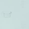 Table de chevet ESTEL en métal vert amande