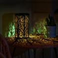 Lanterne solaire à LED motifs arbres à poser ou suspendre