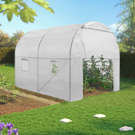 Serre tunnel 6M² blanche 140G ECO 2 sections