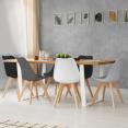 Lot de 6 chaises SARA mix color gris clair, blanc, gris foncé x2, noir x2