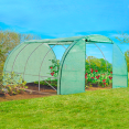 Serre tunnel de jardin 4 saisons 12 m² verte gamme maraichère ZEBRA 4x3M
