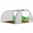 Serre tunnel de jardin 4 saisons 12m² blanche gamme maraichère ZEBRA 4x3M