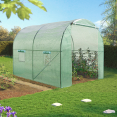 Serre tunnel 6M² verte 140G ECO 2 sections