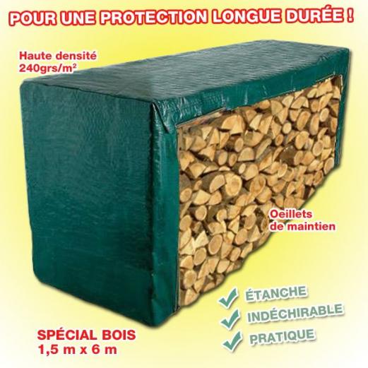 Bâche Industrielle Bois Pro 1,5x6m
