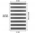 Store enrouleur zébré jour nuit l.45 x H. max 170 CM gris x2