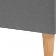 Lit double scandinave Balta 160x200 cm tissu gris clair