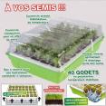 kit de germination 40 godets