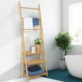 Porte-serviettes bambou LANA 3 étagères