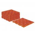 Lot de 10 dalles caillebotis de jardin terracotta 29.5x29.5 CM