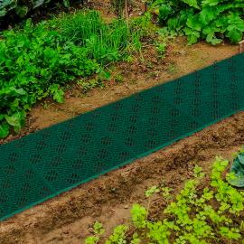 Lot de 10 dalles caillebotis de jardin vert 29.5x29.5 CM