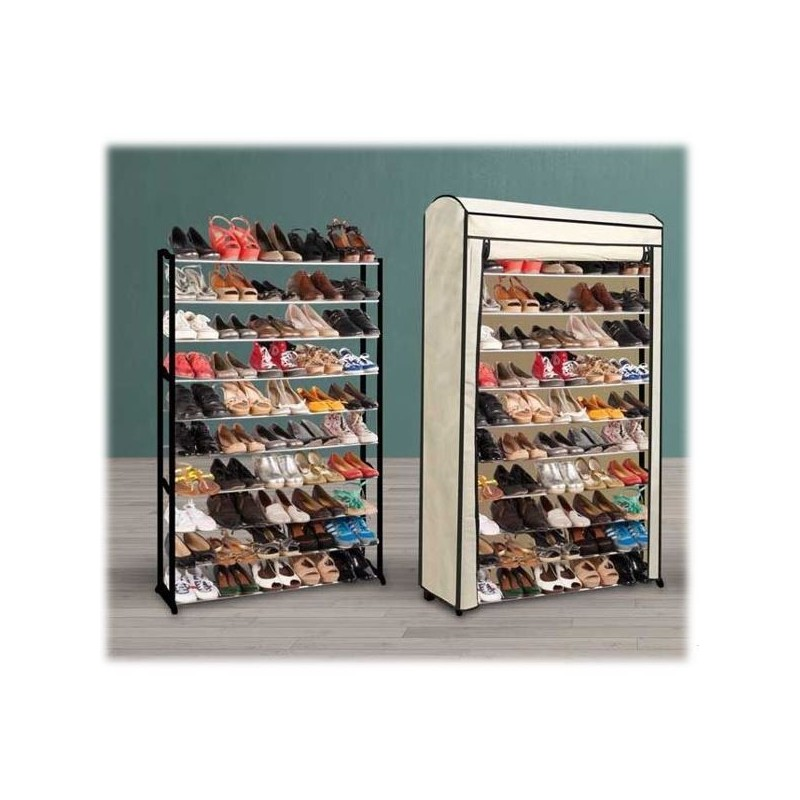 Housse pour tag re range chaussures 50 paires meubles et for Housse pour etagere
