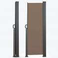 Paravent extérieur rétractable 400 x 200 cm taupe store latéral