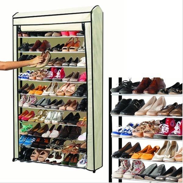 Housse pour tag re range chaussures 50 paires for Housse pour etagere