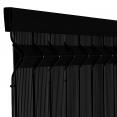 Kit occultant noir L. 250 x H. 153 cm lamelles PVC rigides qualité PRO
