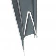 Store banne manuel 3,95 m x 3 m gris anthracite lambrequin H. 1,40 m