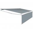 Store banne manuel 2,95 m x 2 m gris anthracite lambrequin H. 1,40 m