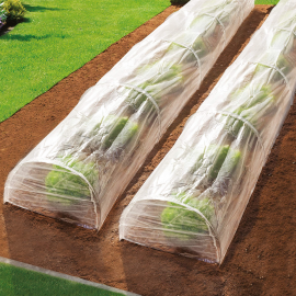 Lot de 2 tunnels de forçage printemps accordéon 4m
