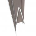 Store banne manuel 3,95 m x 3 m taupe lambrequin enroulable H. 1,40 m