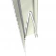 Store banne manuel 3,95 m x 3 m écru lambrequin enroulable H. 1,40 m