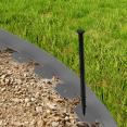Bordurette de jardin flexible grise anthracite 10M + 30 piquets d'ancrage
