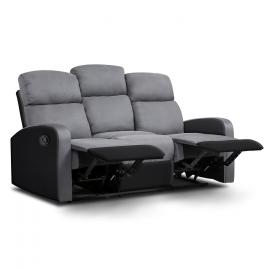 Canapé relaxation 3 places noir et anthracite