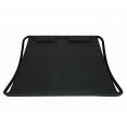 Lit bain de soleil 180 CM toile noire structure noire