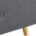 Lit coffre double scandinave LULEA 160x200cm tissu gris anthracite