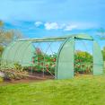 Serre tunnel de jardin 4 saisons 18m² verte gamme maraichère CRIMÉE 6x3M