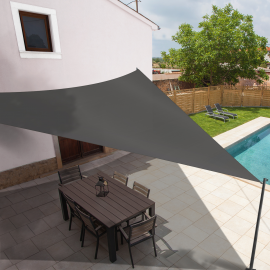 Voile d'ombrage triangulaire 5x5x5 M gris