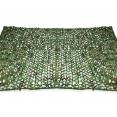 Voile d'ombrage rectangulaire design ombrière camouflage 3x4m treillis vert