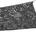 Voile d'ombrage rectangulaire design ombrière camouflage 4x6 m gris