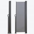 Paravent extérieur rétractable 400 x 180 cm gris clair store latéral