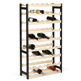 Etagère à vin 67,5x25x118 cm 54 bouteilles en pin