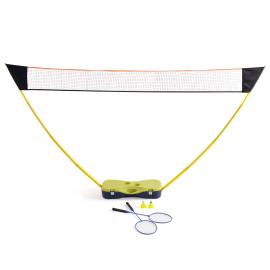 Filet de badminton avec raquettes et volants 300 cm