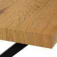 Table à manger ALMA 6 personnes design industriel 160 cm