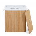 Bac à linge bambou ALBA 2 compartiments