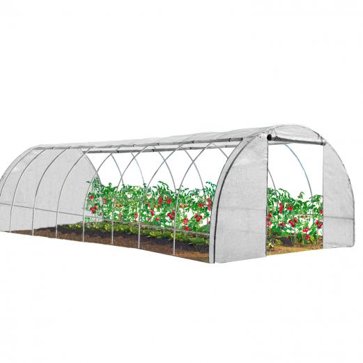 Serre tunnel de jardin 4 saisons 24M² blanche gamme maraîchère DES ANDES 8x3M