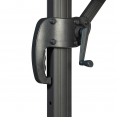 Parasol déporté 360 CALVI taupe 3x4 M avec housse