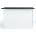 Ilot central IVO 120 cm blanc avec plan de travail gris anthracite