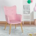 Fauteuil IVAR pour enfant rose pastel