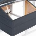 Poulailler luxe XXL en bois gris avec pondoir