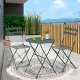 Salon de jardin BISTROT gris anthracite en métal 2 places