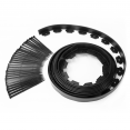 Bordurette de jardin flexible noir 8M + 24 piquets d'ancrage