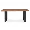 Table à manger DAKOTA 6 personnes pieds forme en U design industriel 160 cm