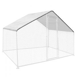 Bâche waterproof blanche 3.4x2M 150gr pour enclos poulaillers