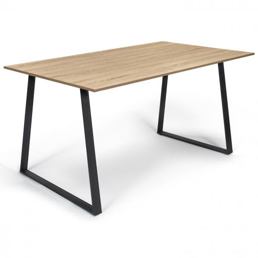 Table à manger ROSALIE 6 personnes design industriel 150 cm