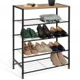 Etagère à chaussures ARTHUR 4 niveaux effet vieilli design industriel