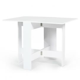 Table console pliable EDI 2-4 personnes bois blanc
